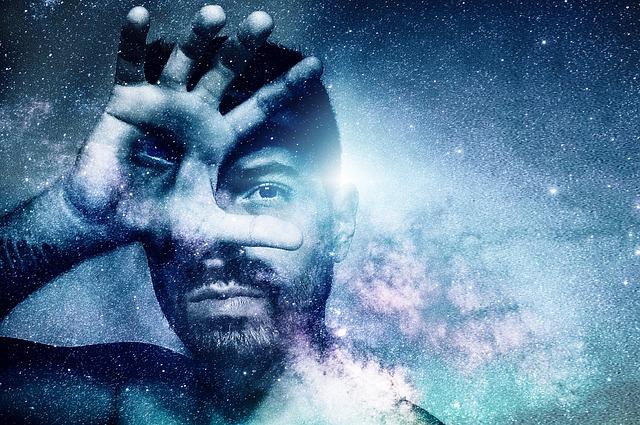 muž ve vesmíru