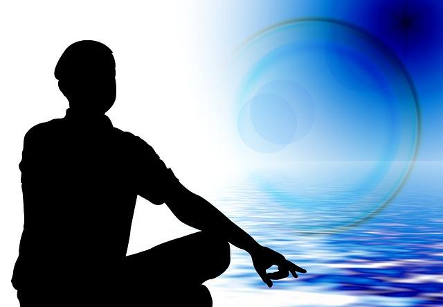muž a meditace