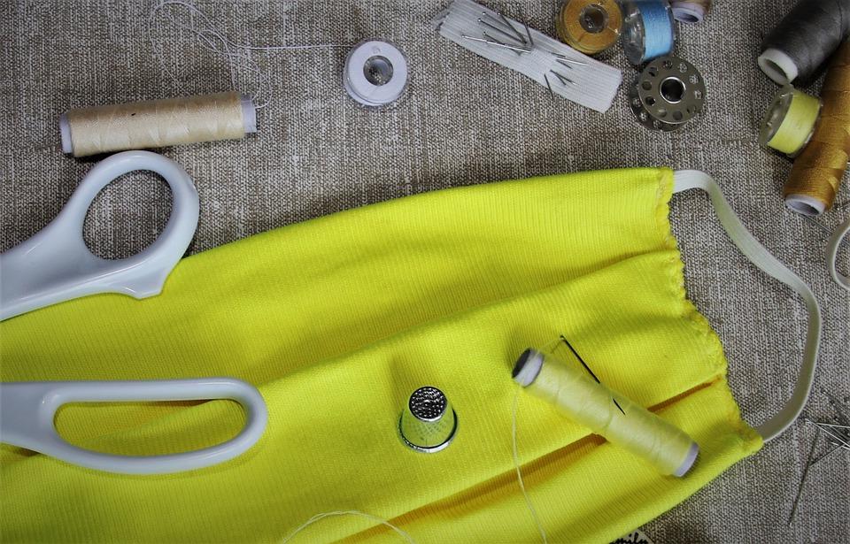 příprava na šití