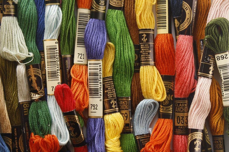 vyšívací bavlnky